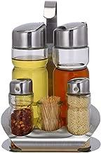 SM SunniMix Juego de Botellas de Especias Cocina Creativa Bolsa Impermeable Especias Coctelera de Sal Vidrio con Tapa Botella de Condimento para Picnic