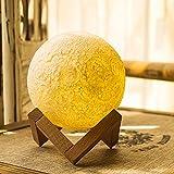 LED Nachtlicht Kinder Mond Lampe, 5.12 Zoll mit Dock, warme und kühle 3 Farben dimmbare Helligkeits-Anpassung, beste Hauptdekorative und romantisches Geschenk (nicht 3D Druck)