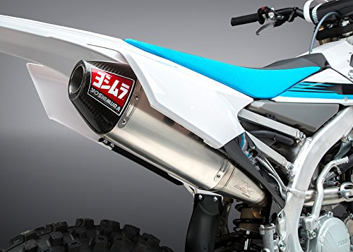 Yoshimura RS-4 Full System Exhaust (Signature/Aluminum with Carbon Fiber End Cap) for 14-18 Yamaha YZ250F