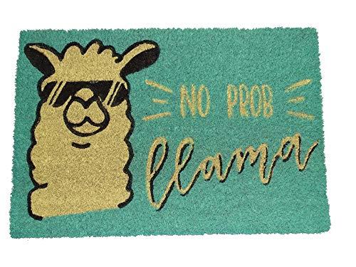 koko doormats felpudos Entrada casa Originales, Fibra de Coco y PVC, Felpudo Exterior Llama - NO Prob, 40x60x1.5 cm | Alfombra Entrada casa Exterior | Felpudos Divertidos para Puerta