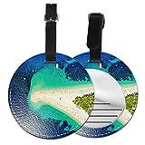 Etiquetas para Equipaje Bolso ID Tag Viaje Bolso De La Maleta Identifier Las Etiquetas Maletas Viaje Luggage ID Tag para Maletas Equipaje Playa Paradise Island
