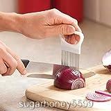 Multi-purposes Stainless Steel Onion Holder Slicer Chopper Gadget Vegetable Potato Cutter Holder for Cooking Kitchen