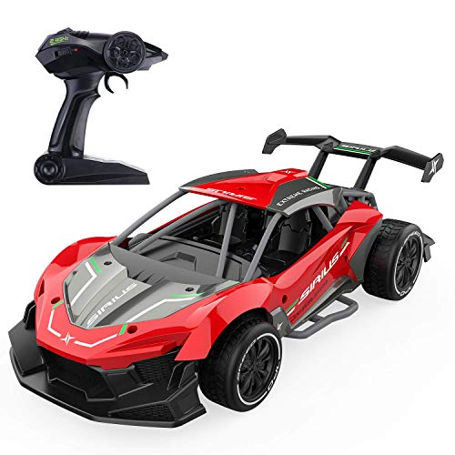 EACHINE EC06 Ferngesteuertes Rennauto 1:14 Hochgeschwindigkeit, 2,4 GHz elektrische Racing Fahrzeuge RC Auto für Kinder und Anfänger(Rot)