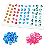 Finyosee 60 Cavities Glossy Silicone Mold for Mini Gems 3D Diamond Gem Epoxy Resin Casting Mold Resin Molds for DIY Crystals Stone Jewelry Making Craft