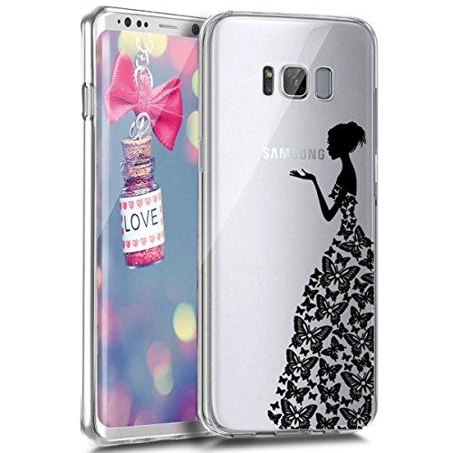 EUWLY Coque en Silicone pour Galaxy S6 Edge Ultra-Mince Anti-Choc Flex Soft Gel TPU Doux Caoutchouc Bumper Coque Etui Housse de Protection Case,#4