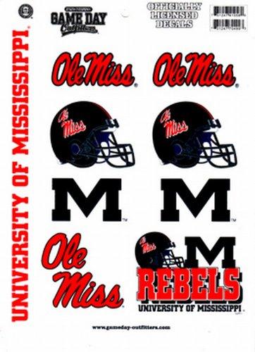 NCAA Ole Miss Rebels Full Page Vinyl Sticker