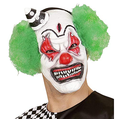 Widmann 00841 Killer Clown masker met haar en mini-hoed