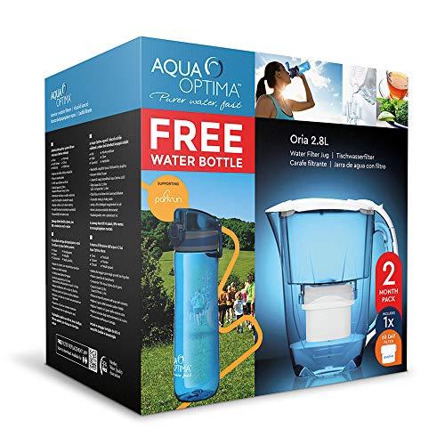 Aqua Optima EJ0622 Oria Jarra de agua, filtro y botella de hidratación,...