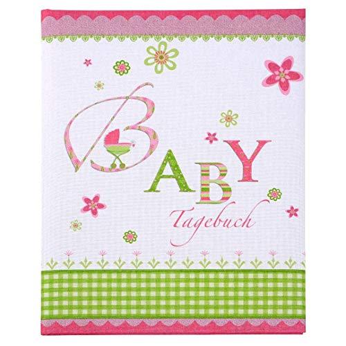 Goldbuch Babytagebuch, Lovely, 21 x 28 cm, 44 illustrierte Seiten, Leinen bedruckt, Rosa, 11085