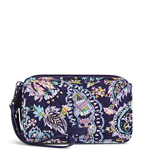 Vera Bradley Signature Cotton All in One Crossbody Purse with RFID Protection, French Paisley