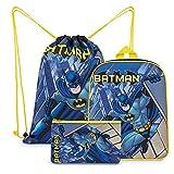 DC Comics Mochila Niño De Batman, Set De Mochilas Infantiles Con Estuche...