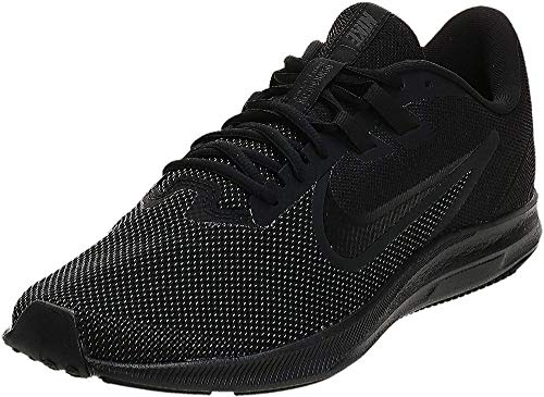 Nike Men's Downshifter 9 Running Shoe, black/black - anthracite, 7 Regular US