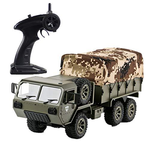 Myste RC Ferngesteuertes Auto, 1:16 M977 6WD 2.4G Ferngesteuert LKW Lastwagen RC Militär LKW Auto Militärfahrzeug Ferngesteuert Army Truck mit Akku und Ladekabel, Komplett-Set