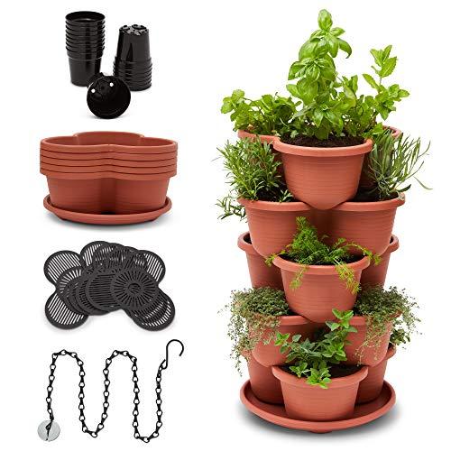 Stackable Planter Vertical Garden for Vegetables, Flowers, Herbs,...