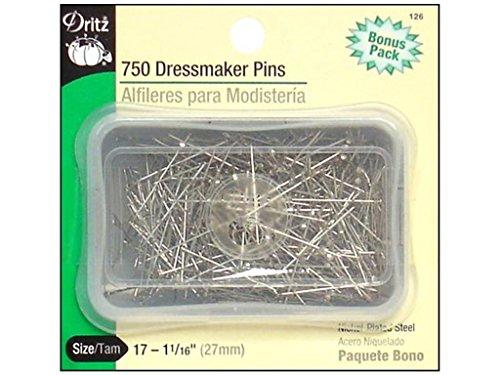Dritz 126 Dressmaker Pins, 1-1/16-Inch (750-Count)