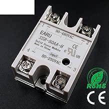 Solid State Relay SSR-50AA-H 50A 80-250V AC to 90-480V AC SSR 50AA-H Relay Solid State Resistance Regulator