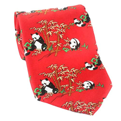 Black Temptation Motif Mode Hommes Cravates/Panda noeuds papillon/cravate/écharpe/Neckwear-rouge