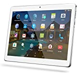 "Android Tablet 10 Inch with Sim Card Slots - YELLYOUTH 10.1"" 4GB RAM 64GB ROM Octa Core 3G Unlocked GSM Phone Tablet PC Compatible with WiFi Bluetooth GPS - Silver"