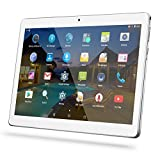 Android Tablet 10 Inch with Sim Card Slots - YELLYOUTH 10.1' 4GB RAM 64GB ROM Octa Core 3G Unlocked GSM Phone Tablet PC Compatible with WiFi Bluetooth GPS - Silver