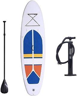 Fklee Juego de Tablas de Remo Sup de Doble Capa for Adultos, Inflable, 305x81x10 cm Tabla de Surf (Color : Blanco, tamaño : 305x81x10cm)