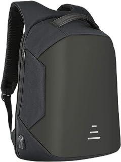 Mochila Portátil para Hombres Mujeres, Laptop Bag de Negocios Delgado contra Robo Computadora de Viaje Mochilas Ecológico a Prueba de Agua Portátil Bolsa 15.6 Pulgadas