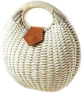 Snail's Nest Tote handbag beach bag women straw bag rattan bag, size 28 x 30 x 15 cm