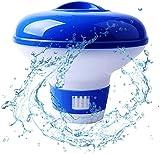 Sunshine smile Dosificador flotador para piscina, 20 cm, flotador dosificador para piscina, dispensador de cloro