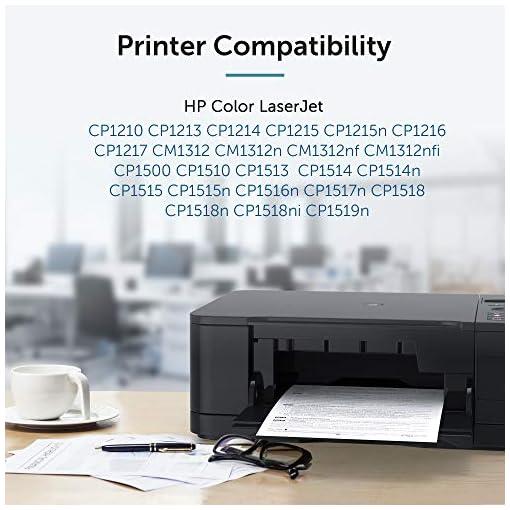 OFFICEWORLD Compatible HP 125A CB540A CB541A CB542A CB543A Toner Cartuchos para HP Color LaserJet CM1312 CM1312n… 3