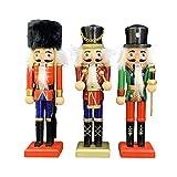 xingling 3 Piezas de Cascanueces de Madera de Navidad, Cascanueces de Soldado de Navidad, Oferta de Soldado de Cascanueces de Soporte Tradicional Decoraciones de árboles