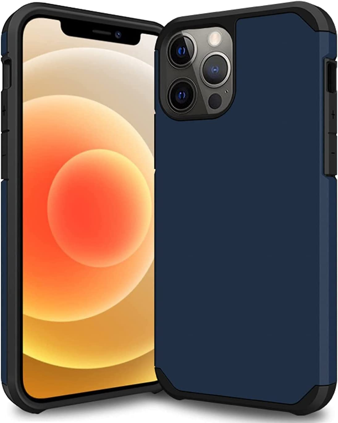 Nyxozonny Phone Case Compatible with iPhone 12 Pro Max(6.7 inch), Smooth Touch Lightweight Slim Full-Body Protective Bumper Case for Men&Women(Navy Blue)