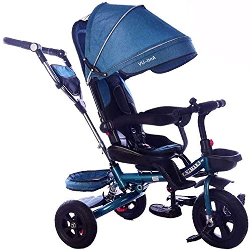 New JINHH Light Tricycle, Kid Stroller Kids Bicycle Multifunction Kids Tricycle Awning with Handle R...