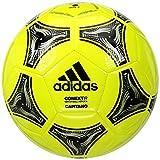 adidas Conext 19 Capitano Soccer Ball, Solar Yellow/Black/Silver Metallic, 4