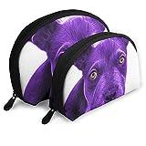 XCNGG Bolsa de almacenamiento Cool Purple Pitbull Dog Bolsa de maquillaje de viaje portátil Impermeable Organizador de artículos de tocador Bolsas de almacenamiento