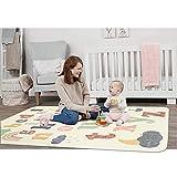 SHACOS Kinderteppich Moderner Kinderzimmer Teppich Baumwolle Baby Krabbelunterlage Mädchen Junge Spielteppich Waschbar rutschfest Groß Kinderteppich für Babyzimmer, 140x200cm