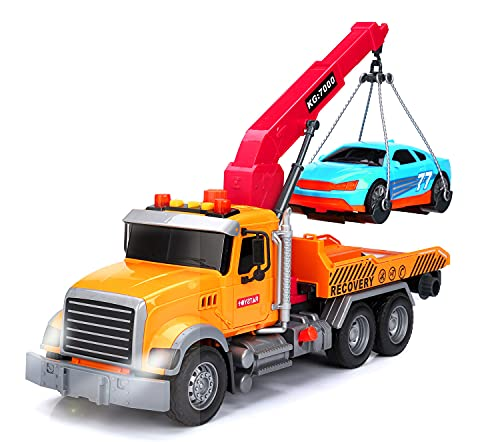 Big Tow Truck Toy Inertial Toy Cars with car Toy Trucks for Boys and wiht Lights and Sound Module