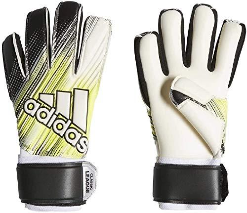 adidas Herren Classic League Torwarthandschuhe, Black/Solar Yellow/White, 8.5
