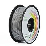 3D BEST-Q PETG 1.75MM Gray 3D Printer Filament, Dimensional Accuracy +/- 0.03 mm, 1KG Spool, Gray