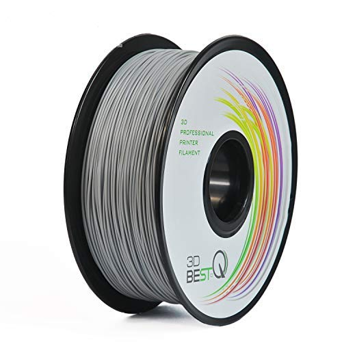 3D BEST-Q PETG 1.75MM Black 3D Printer Filament, Dimensional Accuracy +/- 0.03 mm, 1KG Spool, Black