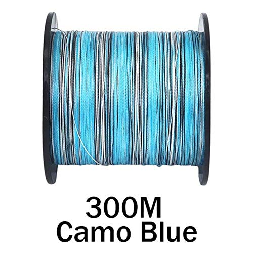 YANODA Angelschnur 10-300lb PE Karpfen Geflochtene Angelschnur 100M 300M 500M 1000M 1500M 2000M 8 Stränge Camo Extreme Strong Cord Big Game Strong (Color : 300M Camo Blue, Line Number : 0.37mm 50LB)