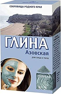 Blue Tonic Clay Powder Natural High Purity for All Skin Types 100g(3.5oz) - Azovskaya