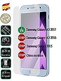 Movilrey Protector para Samsung Galaxy A3 2017 Cristal Templado de Pantalla Vidrio 9H para movil