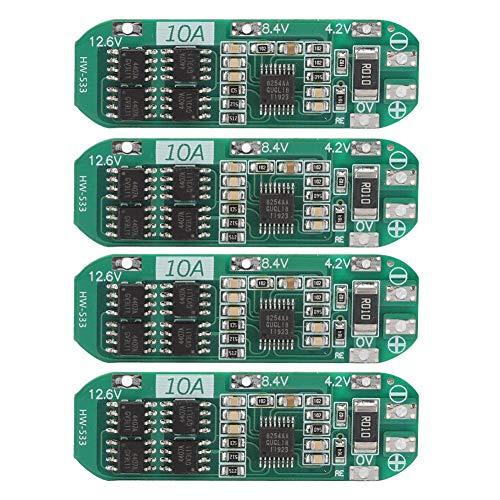 Topiky 4 teiliges Lithium Batterie Schutzplatine Modul, HW-533 Professional 3 Series 10A 12,6V-13V Lithiumbatterie Schutzplatinenmodul
