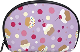 Purple Spot Cake Decorations Women's small cosmetic case for Cosmetic purse and Toiletries Organizer Bag Pack cosmetic travel bag