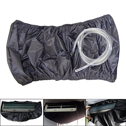 Hanperal Air Conditioner Dust Washing Waterproof Cover, Air Conditioning Cleaning Waterproof Cover Bag with Water Pipes