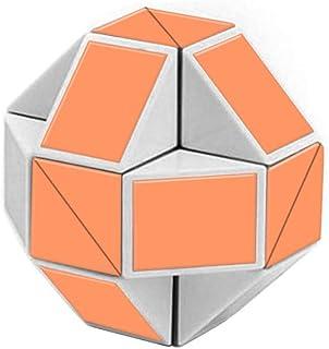 YUANZHOU Twist Puzzle Cubo de Rubik Snake Forma Velocidad Cubos mágicos Twist Puzzle Juguetes para niños Party Bag fillers los favores del Partido, Color al Azar, 4 * 4 * 4cm, 1pc