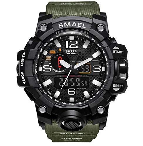 Relógio Masculino Smael Militar Analógico Digital Aprova de Água Resistente Shock Esportivo