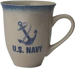 U.S. Navy Anchor Logo 16oz Cream Latte Coffee Mug