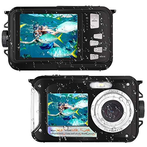 Waterproof Camera Full HD 1080P for Snorkeling 24.0 MP Underwater Camera 2.7 Inch TFT-LCD Dual Screen Waterproof Digital Camera