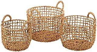 Paris Prix - Lot De 3 Paniers De Rangement Ronds 44cm Naturel