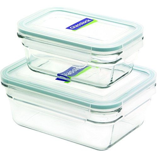 Glasslock 11340 4-Piece Rectangle Oven Safe Container Set